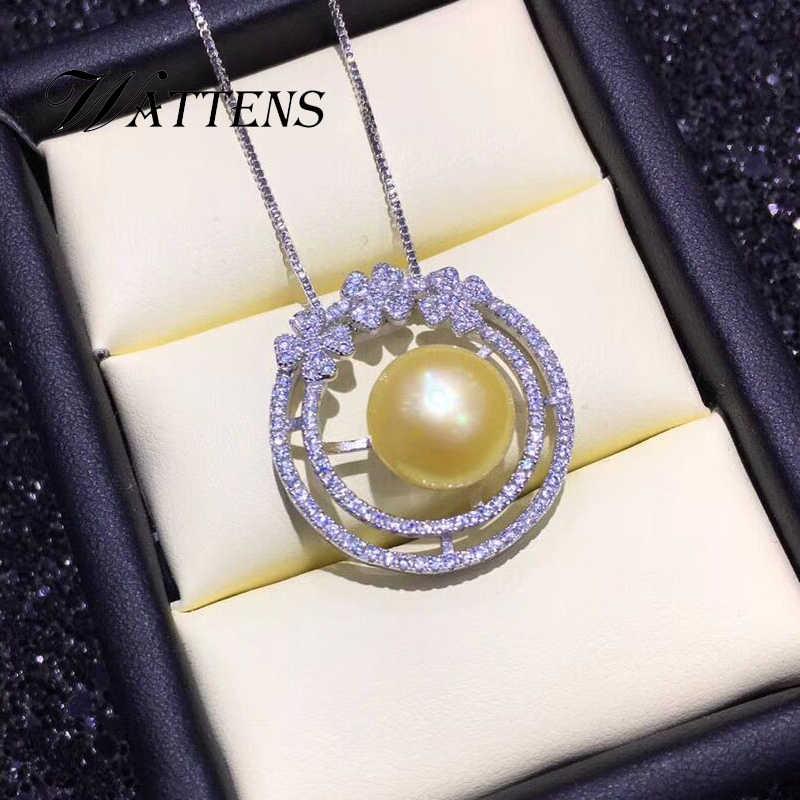 925 collier en argent sterling pour femmes naturel perles d'eau douce fleurs colliers pendentifs chaîne Zircon bijoux de bohème de mariée