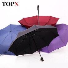 Полностью автоматический зонт от дождя для женщин и мужчин 3 складной светильник и прочный 386 г 8 к сильные Зонты Дети Дождливый Солнечный цена