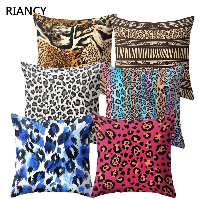 1Pcs 45*45cm Animal Leopard Print Pillow Case Sofa Waist Throw Cushion Cover Home Decor Pillow Covers Housse De Coussin 40817