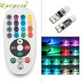 Nova Chegada 2 xT10 194 168 W5W Wedge Car Lâmpada de Leitura LED 7 cores Lâmpada Com Controle Remoto Flash at9