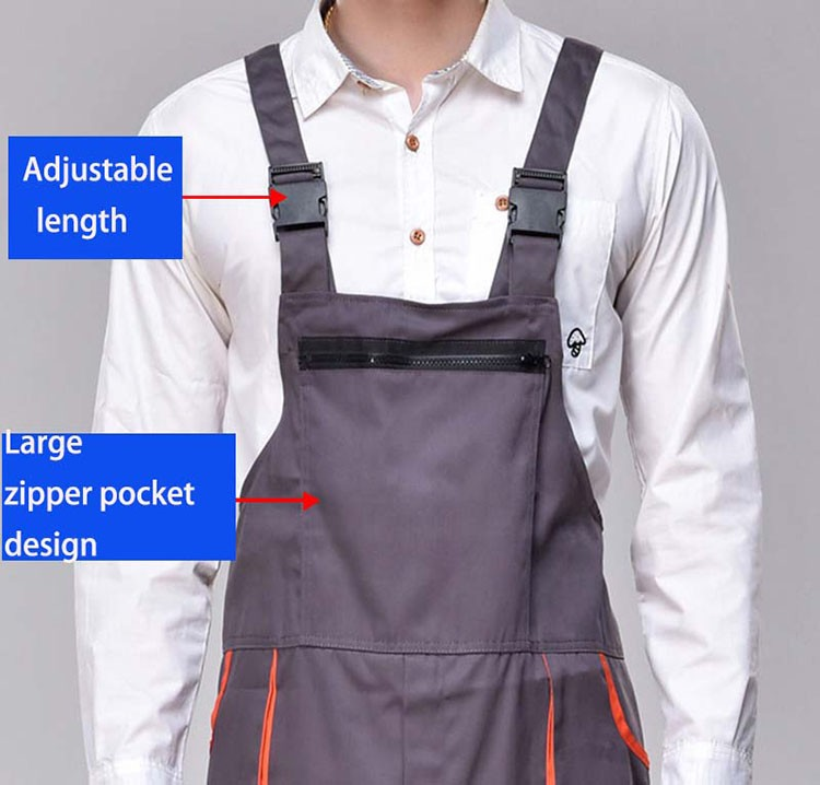 Work overalls men women protective coverall repairman strap jumpsuits trousers working uniforms Plus Size sleeveless coveralls (1)