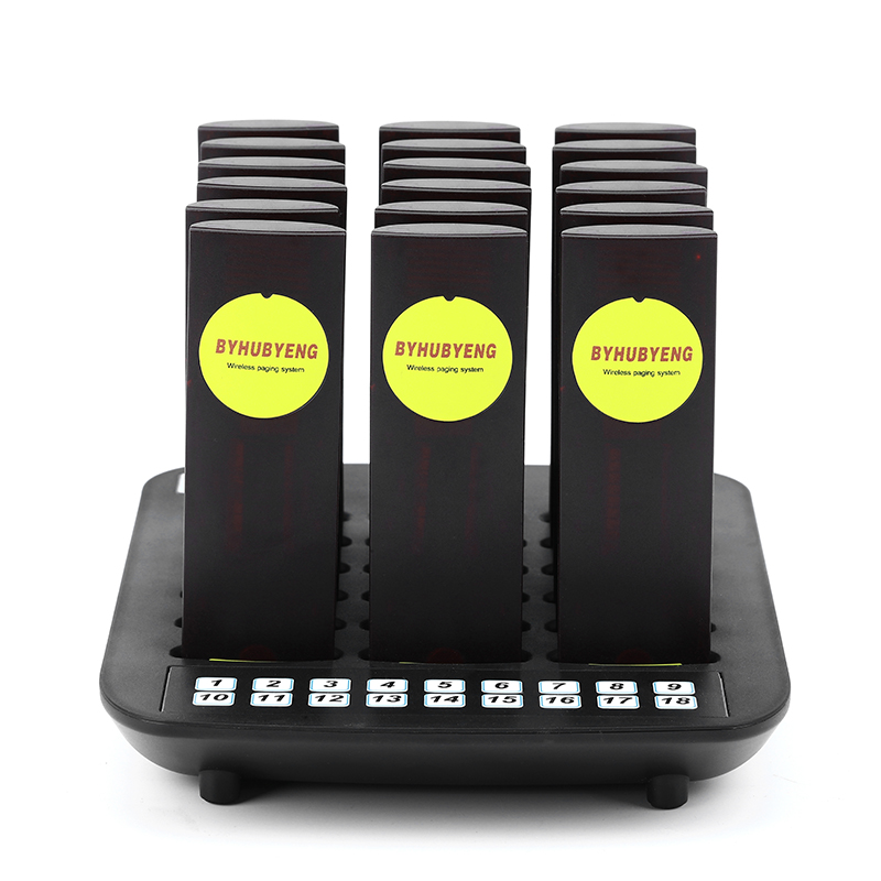 BYHUBYENG 9999 Channel 18 Call Coaster Pager Wireless Pager Queuing System Call Button Pager Restaurant Equipments