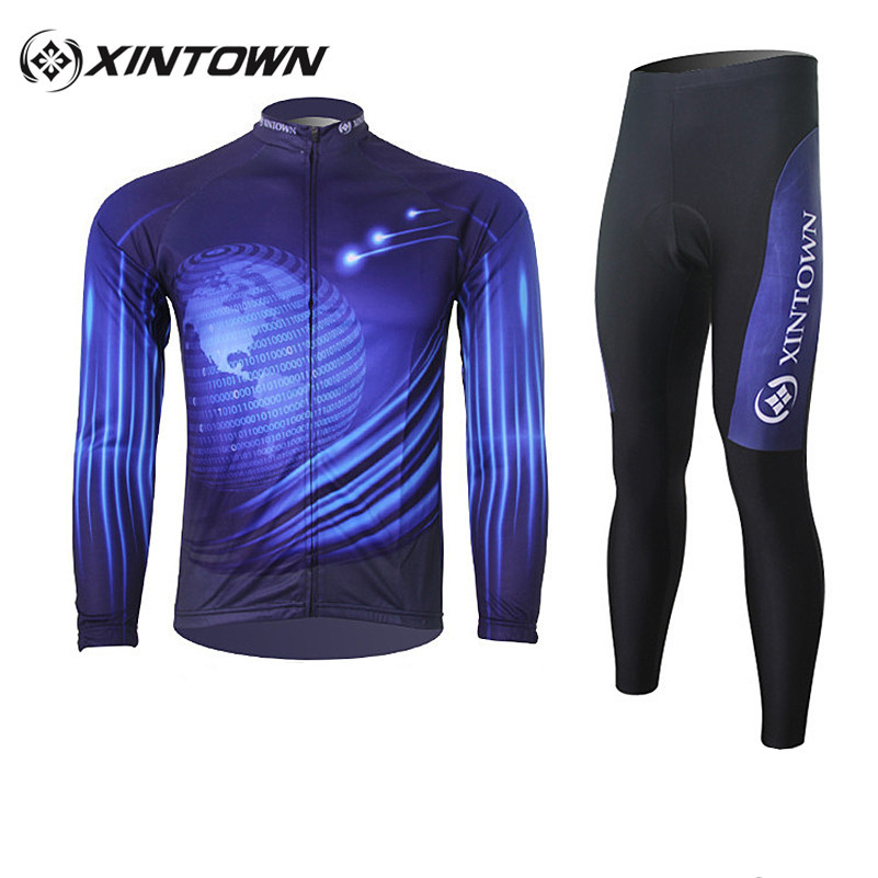 XINTOWN Bicycle Cycling Jersey Kit Bicicleta Ciclismo Fitness Wear Mountain MTB Road Bike Cycle Men Clothing Set With 3D Padded fastcute cycling jersey sets ropa de ciclismo short sleeve road bicycle jersey gel padded mountain bike clothing mtb cycle set