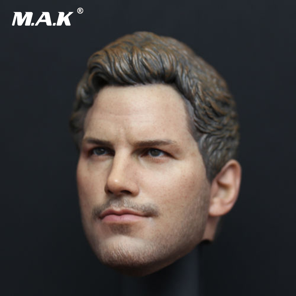 1/6 Male Head Sculpt Star-Lord Peter Quayle Head Carving with Earphone Accessory Model Toys For 12 inches HT Body Action Figure 1 6 stairs batman robin detective blake joseph gordon blake head sculpt carving for hot toys body for 12phicen action figure