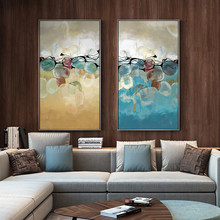 Nordic Style Poster Wall Art Abstract Yellow and Blue Canvas Prints Painting Modular Pictures Living Room Modern Home Decoration(China)