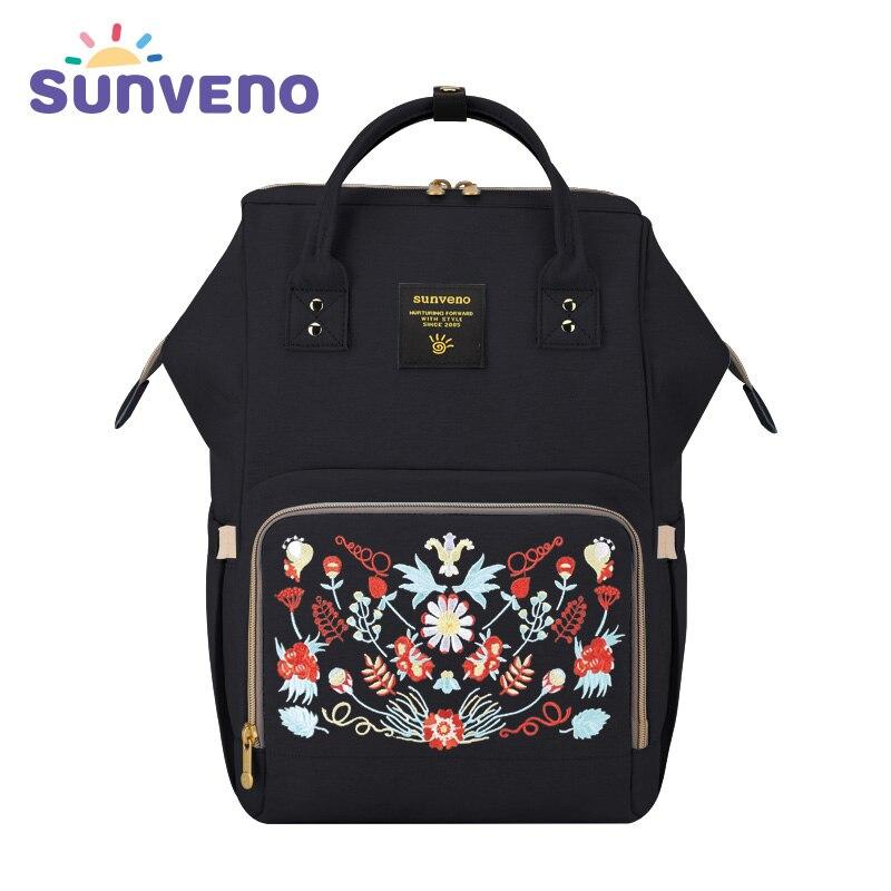 Sunveno Мода для беременных Мумия подгузник сумка брендовая большая емкость Детская сумка дорожная сумка рюкзак дизайн для кормящих пеленок с...