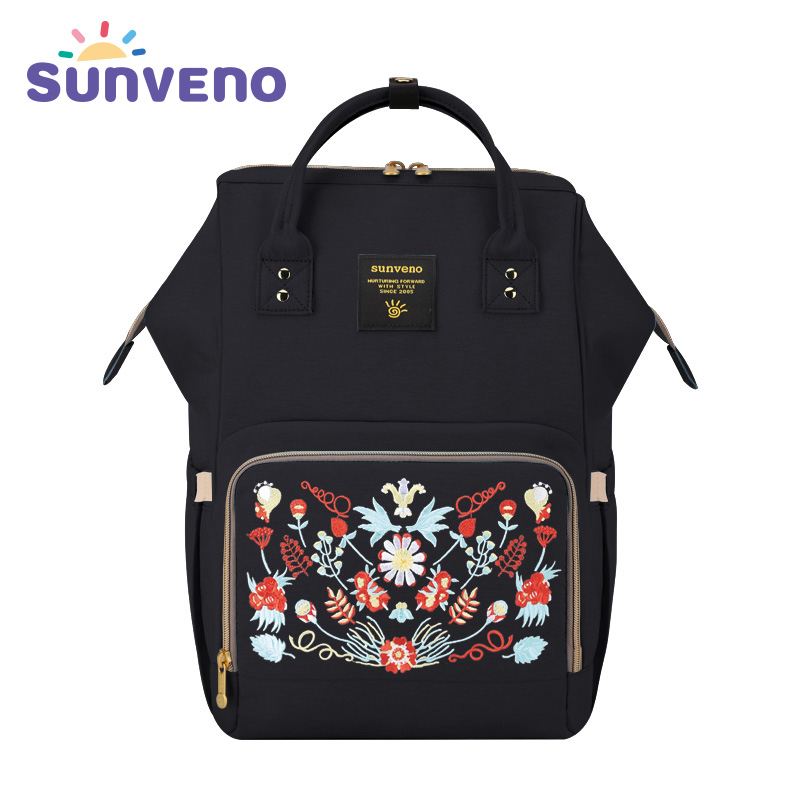 Sunveno Fashion Maternity Mummy Nappy Bag Brand Large Capacity Baby Bag Travel Backpack Design Nursing Diaper Bag Baby Care 2017 new baby boys clothing set 2pcs kids clothes cartoon cat cute boy suit fashion new boy s summer t shirt pants toddler suits