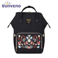 Sunveno Multi Function Mammy Bags Large Capacity Backpack Mother Baby Bag Maternity Nursing Diaper Bag Shoulder