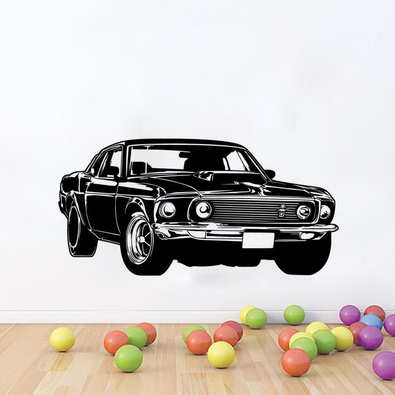 Power Car Vinyl Wall Stickers Home Removable Wall Decal For Kids Room Decoration Creative Design Wallpaper DIY Mural SA418