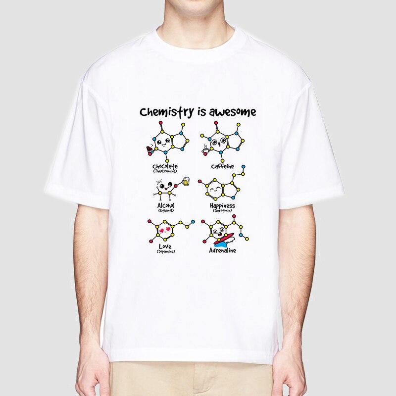 Chemistry Is Awesome 2018 New Arrivels Men Cartoon Comic T-shirt Short Sleeve O-Neck Fashion T Shirt Cool Male Tshirt