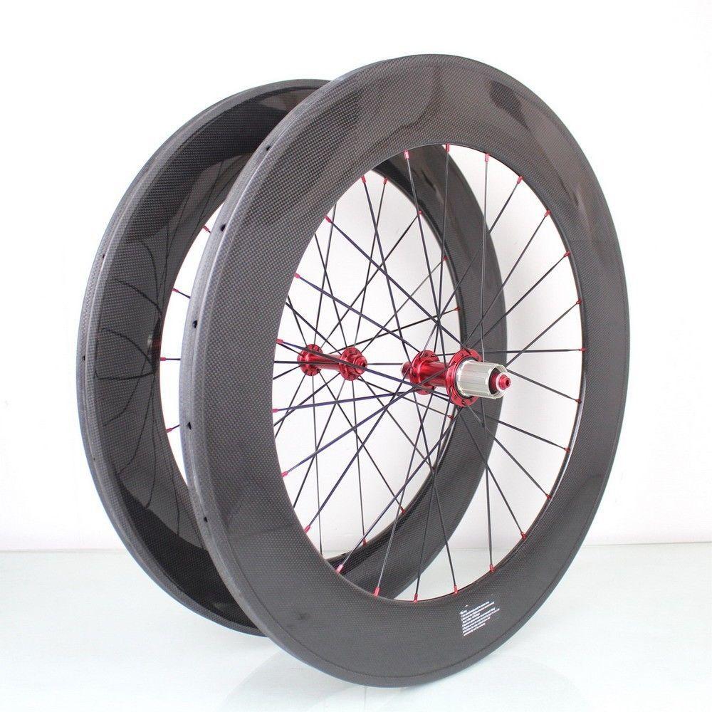 high TG font b light b font clincher carbon road wheel 88mm 90mm cycling bike wheel