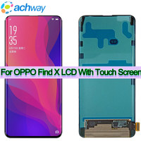 Black 6.42 LCD Display OPPO Find X Screen With Touch Screen Digitizer Assembly Original FindX Replacement Parts OPPO Find X LCD