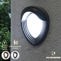 9w Decorative Garden Led Nodern Ip65 Outdoor Wall Light With Motion Sensor Modern Contemporary Exterior Wall Sconces Fixtures