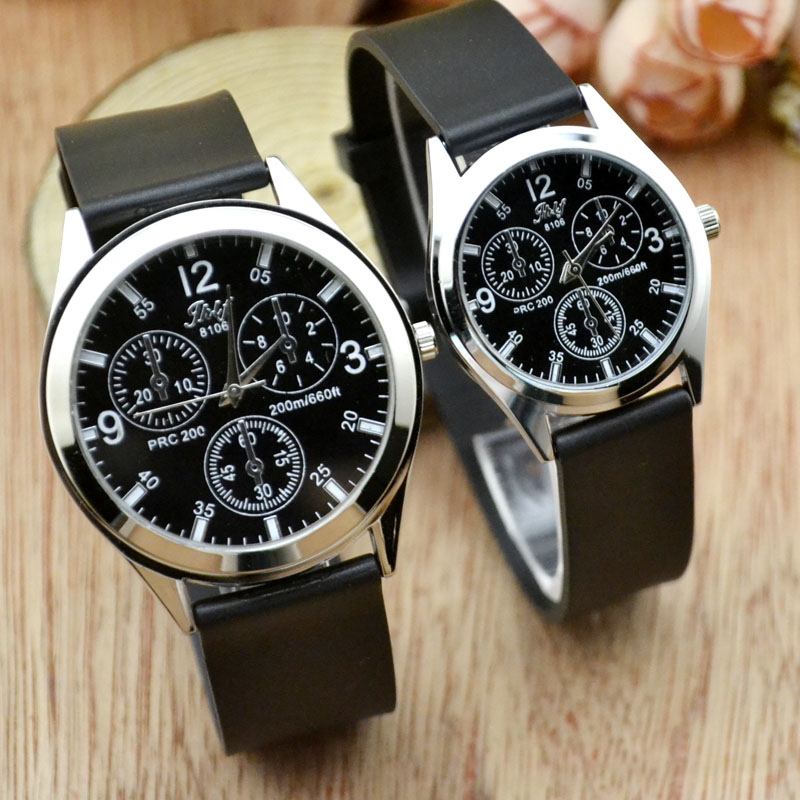 Korean version of fashion, waterproof, antique, fashion, leisure, middle school boys, quartz watch belt, lovers watch electronic(China)