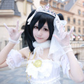 Nico Yazawa Cosplay Love Live! School Idol Project White Satin Wedding Dress Uwowo Costume