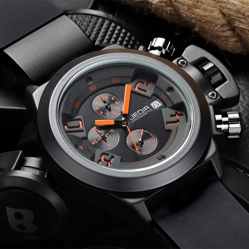 Sport Watches JEDIR Men s Fashion Casual Quartz watch Silicone Strap Multifunction Army Military Hodinky Men