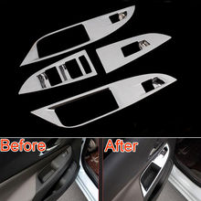 For Chevrolet Chevy Cruze 2015 Door Window Switch Adjust Lift Control Panel Cover Trim Sticker Chrome Auto Car Styling Accessory