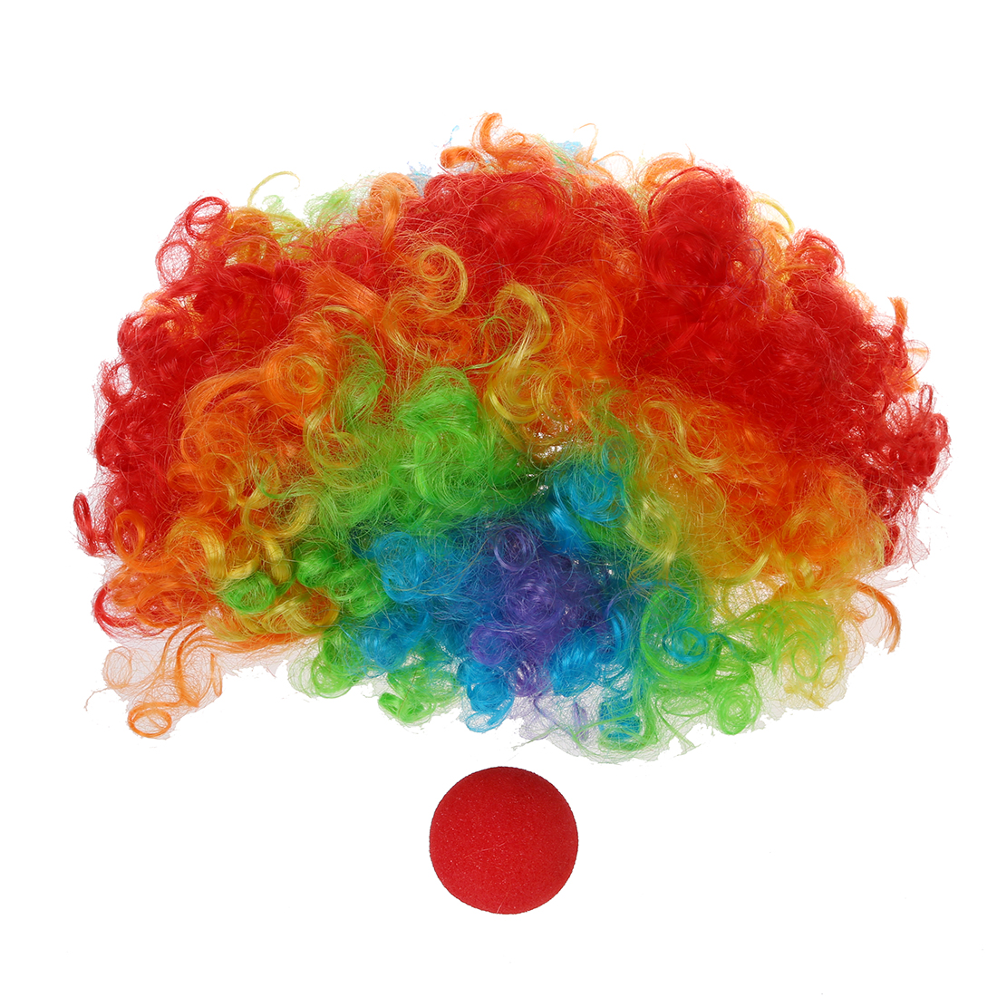 Image result for clown nose and wig