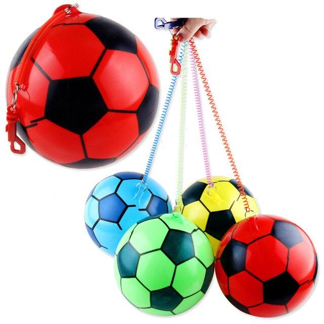 fd3198d2e Bola de Futebol inflável Com Corda Colorida Bola De Borracha Inflável  Piscina Praia Jogar Educação infantil