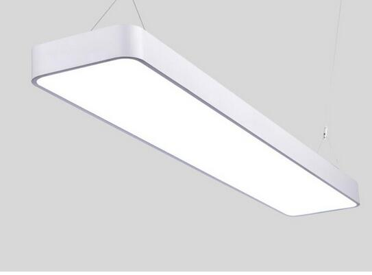 LED rounded office aluminum wire Pendant Lights rectangular simple modern commercial lighting TA102114 ce emc saa rohs gs ul listed commercial 100w commercial led pendant lights