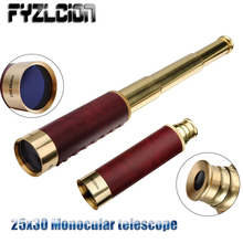 Hunting Optics 25x30 HD Monocular Telescope Optics Nautical Brass Spyglass Maritime Outdoor Camping Tools Telescope 2016 new style joufou charm shadow series 12x50 monocular waterproof telescope wide angle for hunting optics camping travel