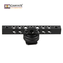 CAMVATE מגניב שחור אלומיניום גבינה בר עם 1/4 20 חוט חור עבור צג C1483 מצלמה צילום אבזרים