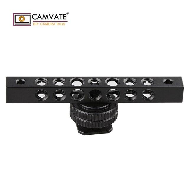 CAMVATE soğuk siyah alüminyum peynir çubuğu 1/4 20 diş deliği için monitör C1483 kamera fotoğraf aksesuarları