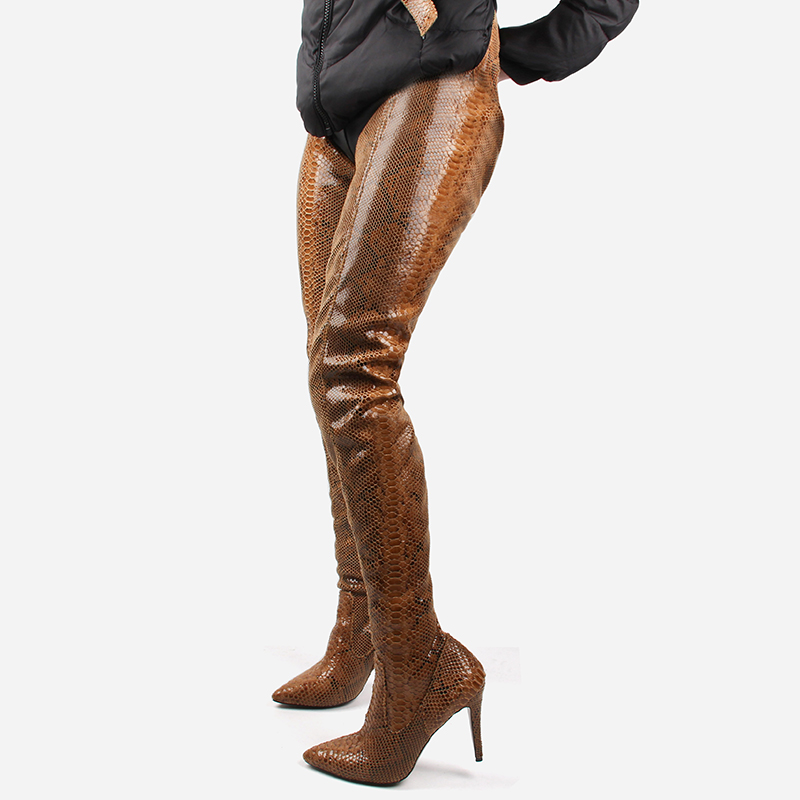 2019 New <font><b>Fetish</b></font> Shoes Women <font><b>Extreme</b></font> Long Waist Botas <font><b>Sexy</b></font> Thin <font><b>High</b></font> <font><b>Heels</b></font> Spring/autumn Rihanna Crotch Thigh <font><b>High</b></font> <font><b>Boots</b></font> image