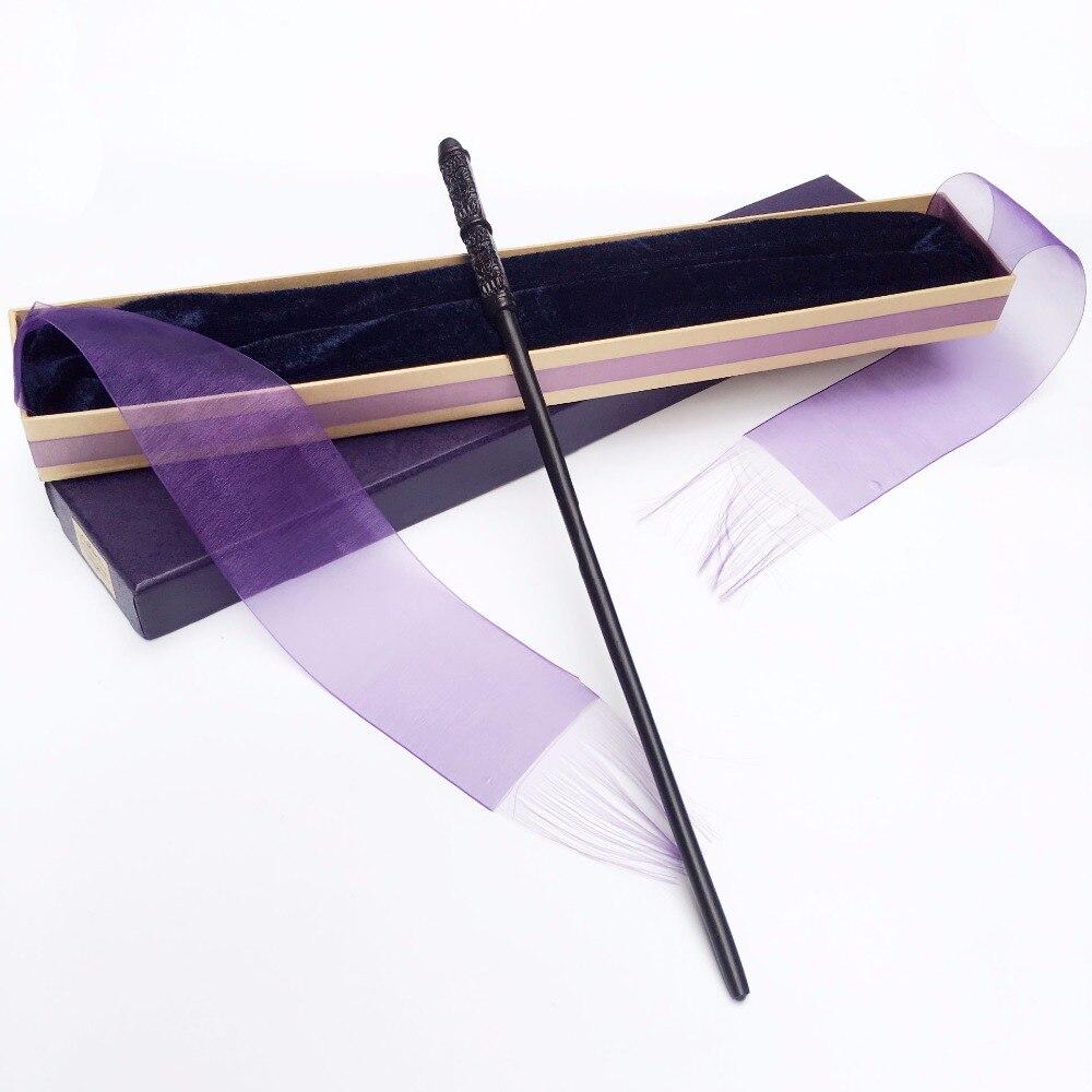 New Arrive Metal Iron Core Severus Snape Wand  HP Magic Magical Wand  Elegant Ribbon Gift Box Packing