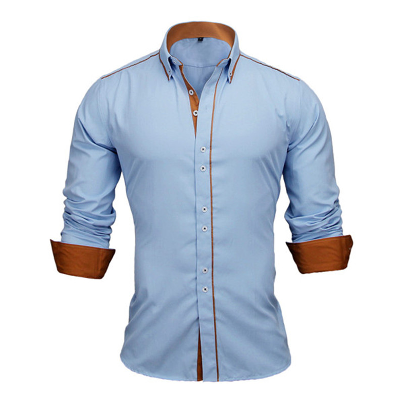 HTB1HTl4XRaE3KVjSZLeq6xsSFXax - VISADA JAUNA European Size Men's Shirt New 100% Cotton Slim Business Casual Brand Clothing Long Sleeve Chemise Homme N356