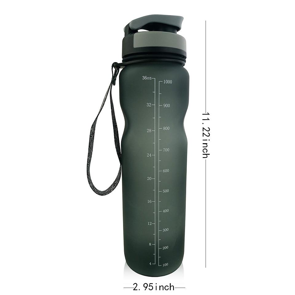 Tritan İdman Su Şüşəsi 1000ml BPA Pulsuz Şüşə butulkamız - Mətbəx, yemək otağı və barı - Fotoqrafiya 3