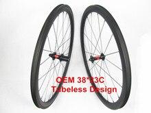 Tubeless Farsport FSC38-CM-23 DT240 38m Chinese high end OEM road tubeless wheel, 38 carbon fiber clincher wheelset