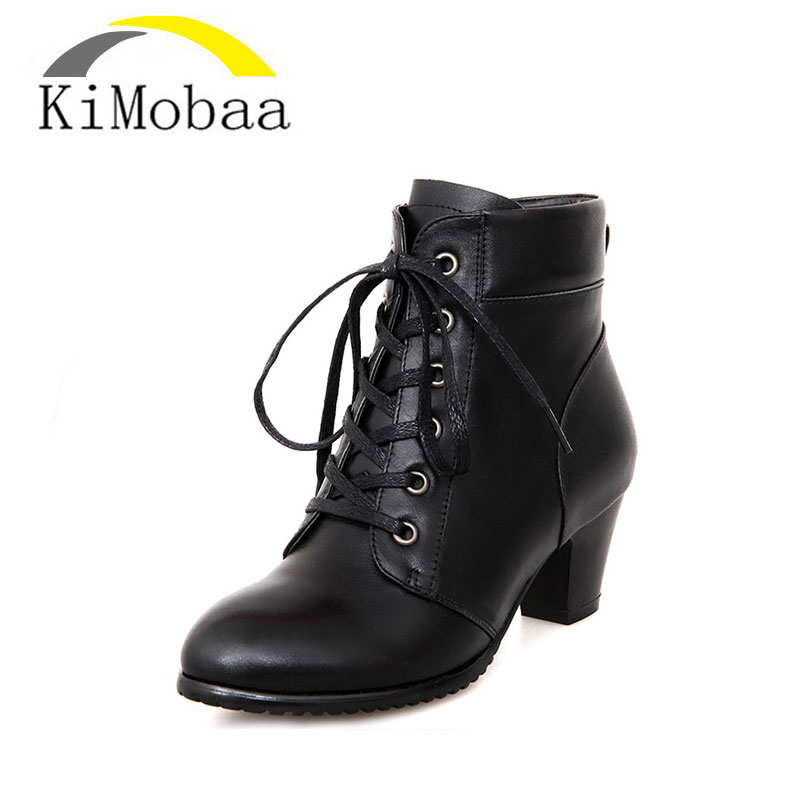 Kimobaa Cow Leather Women's Shoes Short Plush Winter Boots High Quality Genuine Leather Footwear Ankle Boots Russion Boots TX117 yin qi shi man winter outdoor shoes hiking camping trip high top hiking boots cow leather durable female plush warm outdoor boot