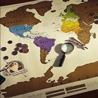1 개 스크래치 OFF MAP 여행 88x52 cm 세계