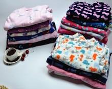Ребенок флис ткань одна часть пижамы derlook ползунки весной и осенью небольшой мужской женский ребенок ребенка ползунки пижамы