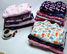 Child polar fleece fabric one piece sleepwear derlook romper spring and autumn of small male female