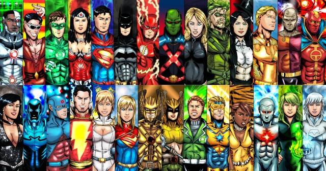 Free Ship Custom Justice_league Dc Comics Poster Fashion Home/Bedroom Decor  Canvas WallSticker Cartoon Wallpaper