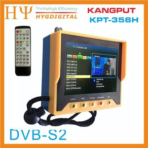 Image 2 - [Hakiki] KPT 356H 3.5 inchHandheld TFT LCD çok fonksiyonlu (DVB S/S2) dijital uydu bulucu daha iyi satelink ws 6906 6933
