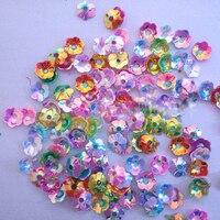 Około 3980 Sztuk 6mm Mix Kolor Loose Cekiny DIY Akcesoria Odzież Ślubna Handmade Kwiaty Koraliki Rzemiosła Sztuki