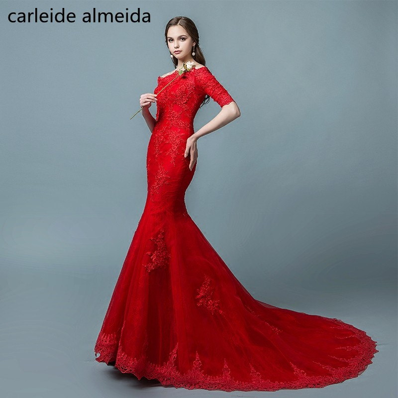 Awesome Red Mermaid Wedding Dresses Picture Collection - Wedding ...