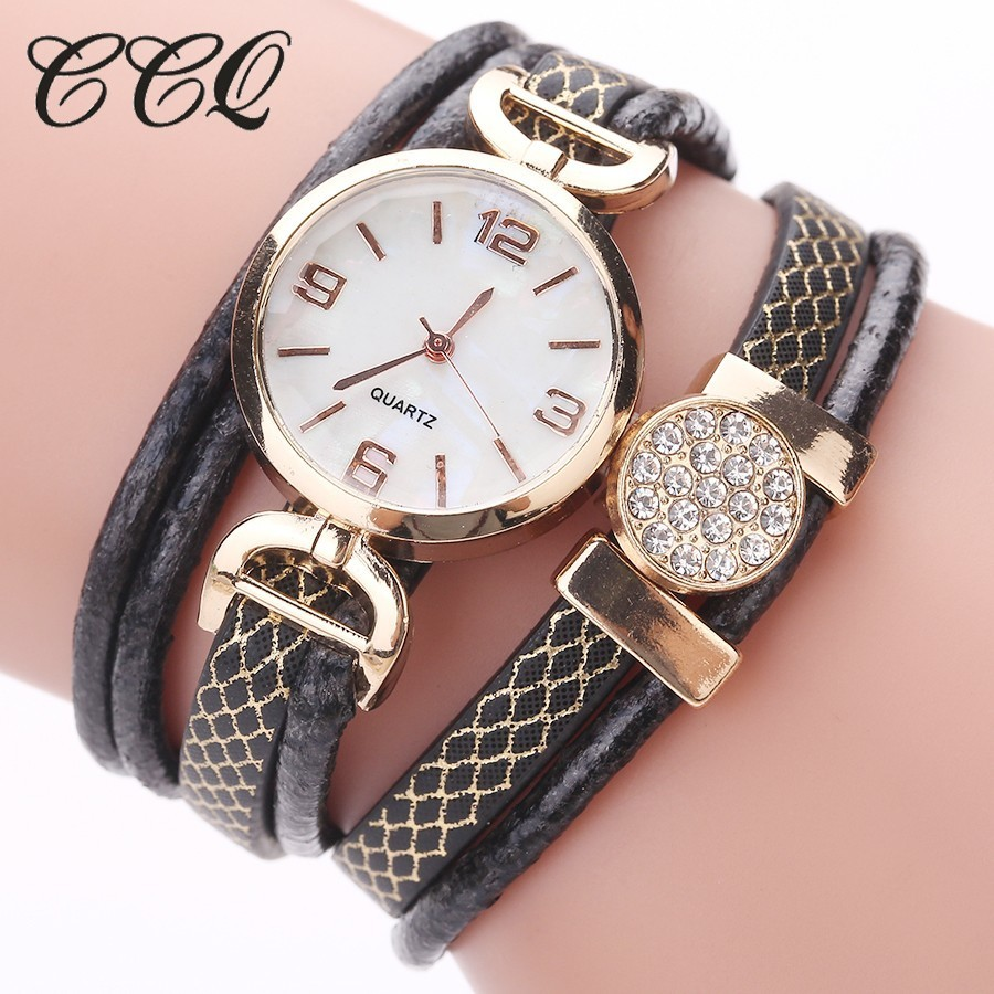 CCQ Women Watches Casual Fashion Gold Dress Bracelet Watch Ladies Wrist Watch Luxury Vintage Clock Quartz Watch Drop Shipping moon mv37 outdoor cycling bike helmet black golden red