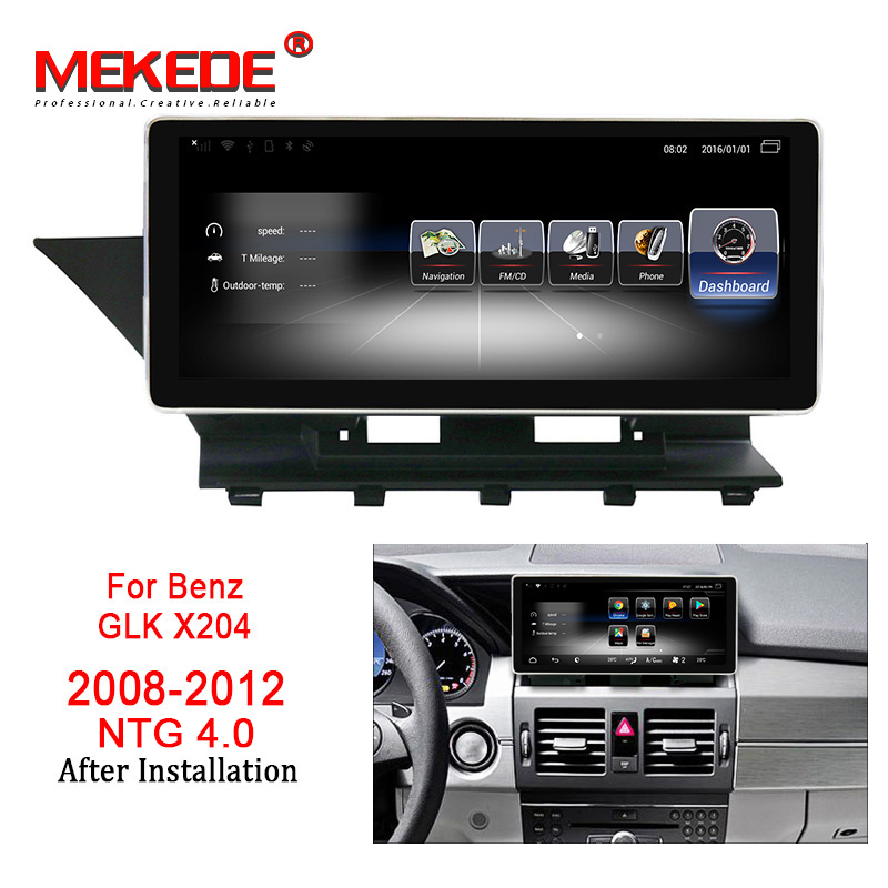MEKEDE Carro Player Multimídia 10.25 ''Android 7.1 Car radio DVD GPS audio player Para Benz GLK Classe X204 2008 -2015 3 + 32G