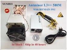 Bitmain date ANTMINER L3 + + 580 M (avec BITMIAN APW3 + + 1600 W psu) Scrypt Miner LTC Machine minière mieux que ANTMINER L3 L3 +