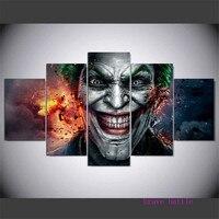 Joker Harley Quinn 5 Pieces Canvas Painting Print Living Room Home Decor Modern Wall Art Oil Painting