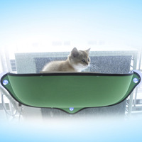 Removable Cat Sunbathing Hammock Bed Window Cat Lounger Perch Cushion Hanging Shelf Sofa Seat for Cat Rest House Cage