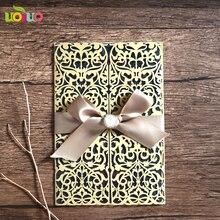 Лазерная резка свадебные открытки сувениры бумаги вырезать приглашений