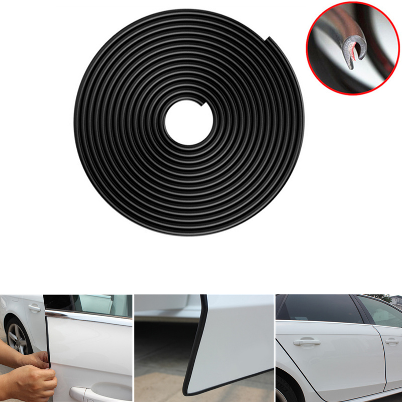 For Volkswagen Tiguan Car Side Door Edge Guard Bumper Trim Protector Stickers