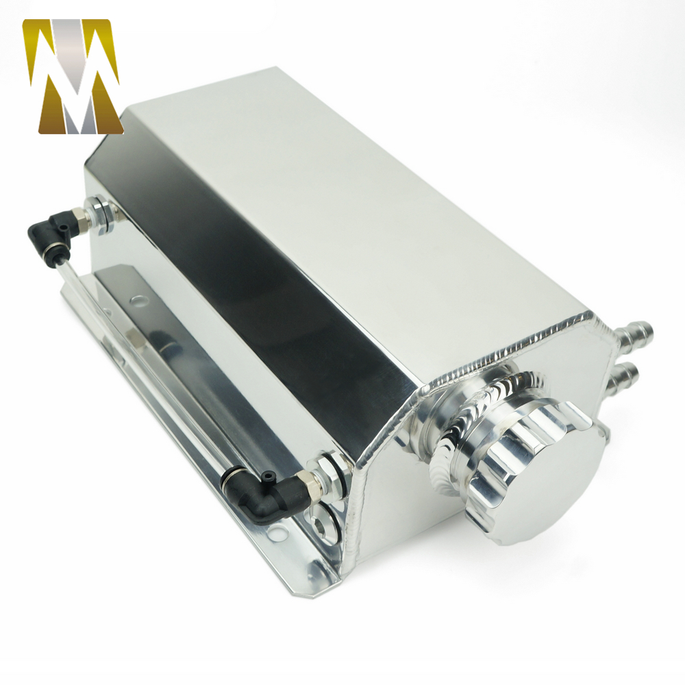 Autoleader 2L bouchon Aluminium réservoir collecteur d'eau liquide de refroidissement radiateur trop plein coffre bidon réservoir Kit de récupération liquide de refroidissement réservoir d'eau