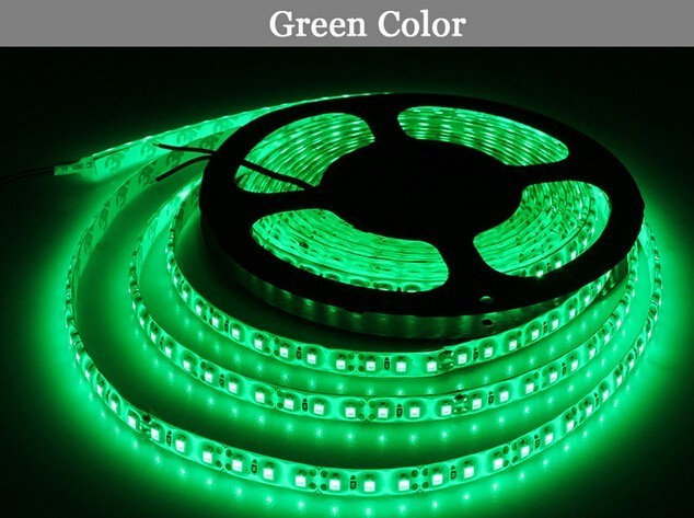 5M/set LED Strip Single Color Waterproof IP65 2835 SMD LED Light DC12V 60leds/m With 12V 2A EU US Power Supply Christmas Lamp
