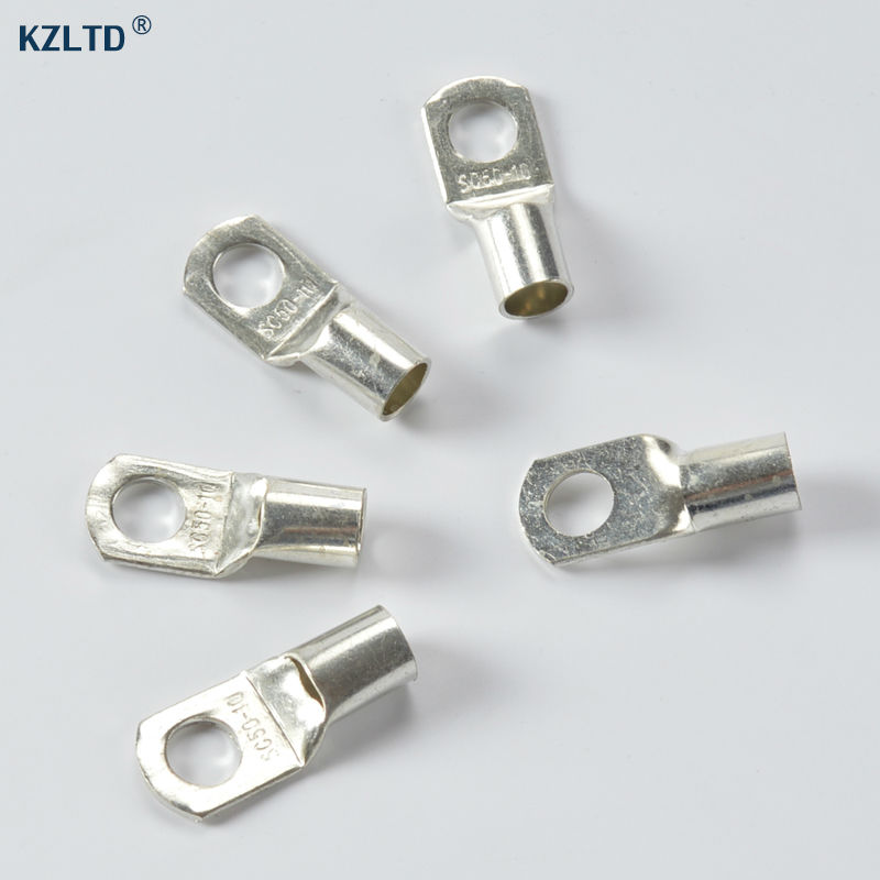 AC//DC WIRE Bare Copper Lug Ring Terminals Battery 3//0 awg 1//2, 50 pc